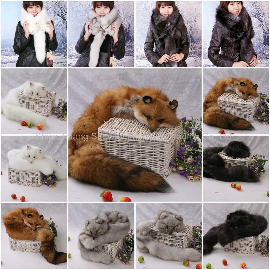 Fox Fur Scarves Fur Scarf Fox Fur Wraps Fur Shawl Fur Cape Fur Poncho 4 Colors 1