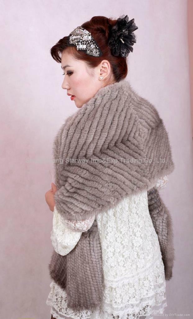 Mink Fur Poncho Fur Cape Fur Scarves Mink Fur Scarf Mink Fur Wraps Mink Fur Shaw 4