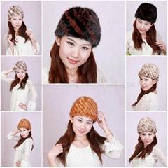 Women's Fur Hat Mink Fur Hats Mink Fur Cap Mink Fur Headgear Fur Chapeau 4 Color