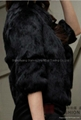 Women's Rabbit Fur Coats Rabbit Fur  Jackets Z22 Black 4