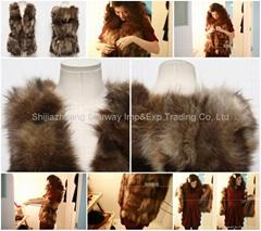 Women's Raccoon Fur Vest Raccoon Fur Coats Raccoon Fur Jackets Z11