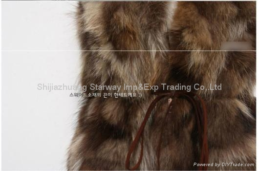 Women's Raccoon Fur Vest Raccoon Fur Coats Raccoon Fur Jackets Z11 3
