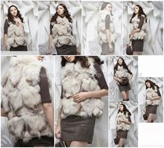 Women's Fox Fur Vests Fox Fur Coats Fox Fur Jackets Fox Legs Fur Z18