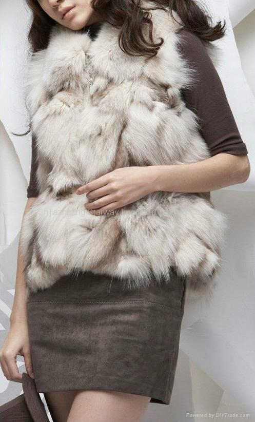 Women's Fox Fur Vests Fox Fur Coats Fox Fur Jackets Fox Legs Fur Z18 2