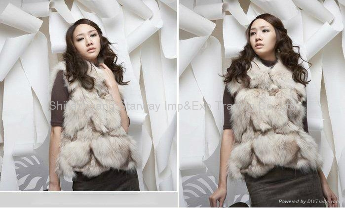 Women's Fox Fur Vests Fox Fur Coats Fox Fur Jackets Fox Legs Fur Z18 5