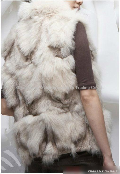 Women's Fox Fur Vests Fox Fur Coats Fox Fur Jackets Fox Legs Fur Z18 3