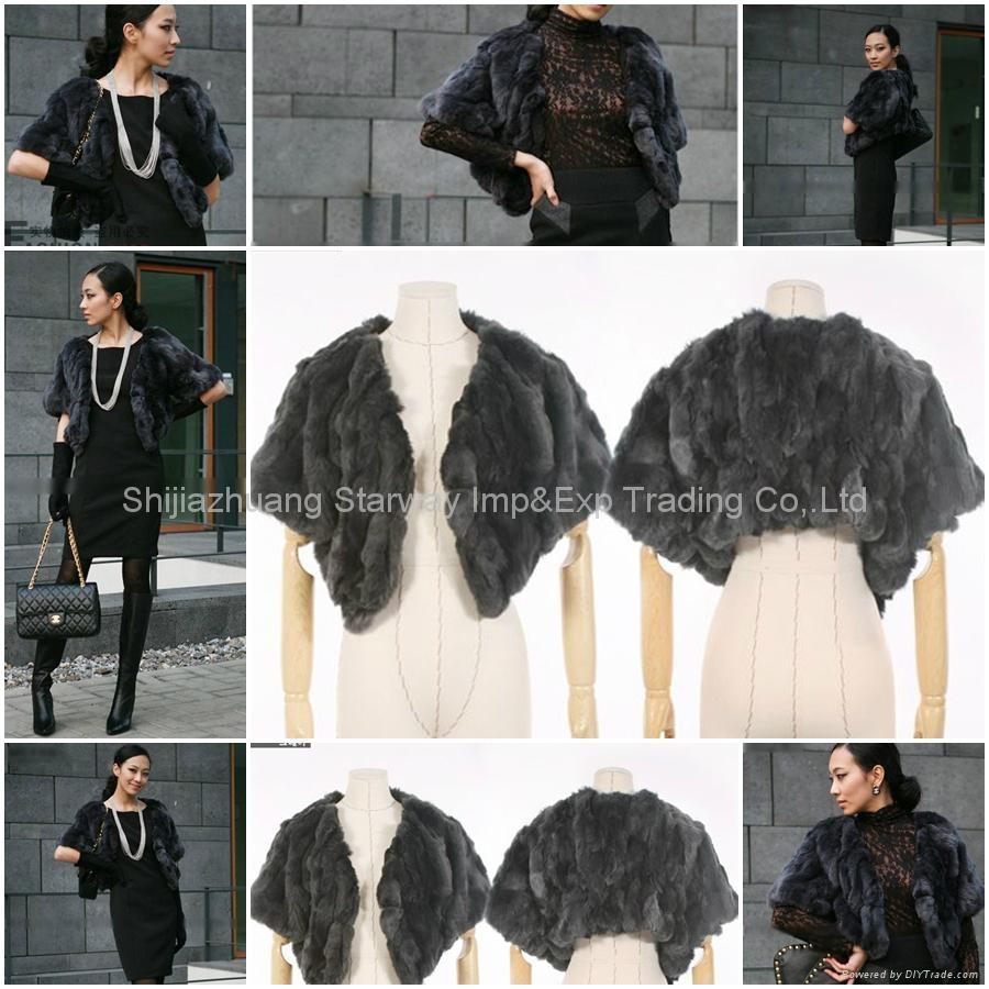Women's Rex Rabbit Fur Coats Rex Rabbit Fur Jacket Rex Rabbit Fur Vests Z40 2Col 1