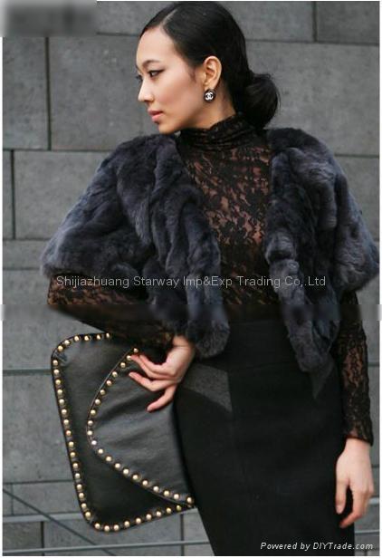 Women's Rex Rabbit Fur Coats Rex Rabbit Fur Jacket Rex Rabbit Fur Vests Z40 2Col 3