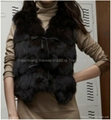 Women's Fox Fur Vest Fox Fur Coats Fox Fur Jackets Z41 Black 3