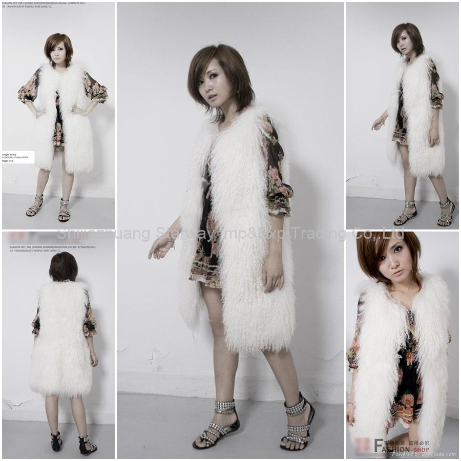 Women's Sheepskin Fur Vests Sheep Fur Vests Sheepskin Vests Sheepskin Coats Z48  1