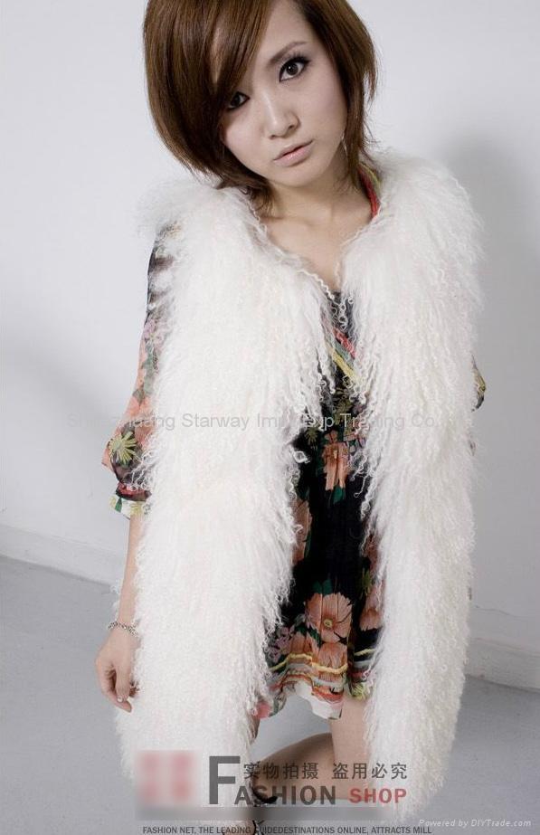Women's Sheepskin Fur Vests Sheep Fur Vests Sheepskin Vests Sheepskin Coats Z48  5