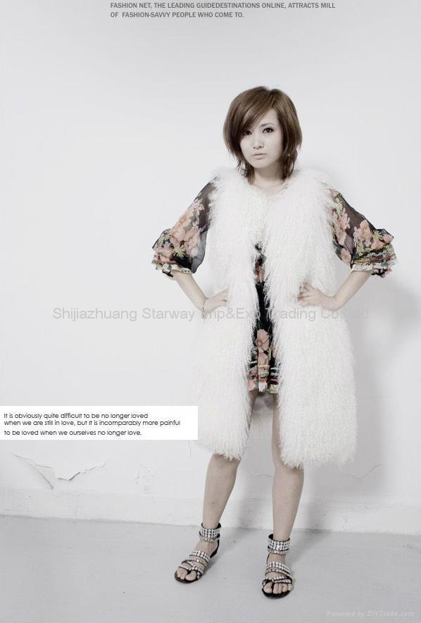 Women's Sheepskin Fur Vests Sheep Fur Vests Sheepskin Vests Sheepskin Coats Z48  2
