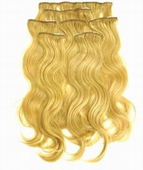 Clip hair extensions/body wave