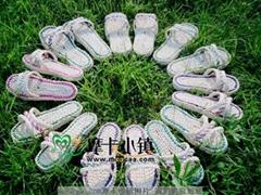 雙層拖鞋玉米皮涼草鞋批發
