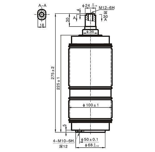 ZKTD-1250/12-25真空灭弧室 5