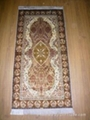 Hand knotted silk carpet Antique silk