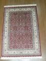 Hand made pure silk carpet Turkey Hereke design  1
