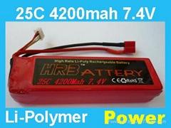 7.4V 4200MAH 25C  car battery