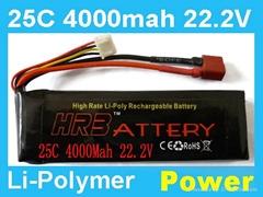 22.2V 4000MAH 25C rc lipo battery