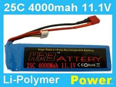 11.1V 4000MAH 25C Rc lipo battery