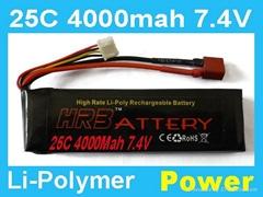 7.4V 4000MAH 25C rc lipo battery