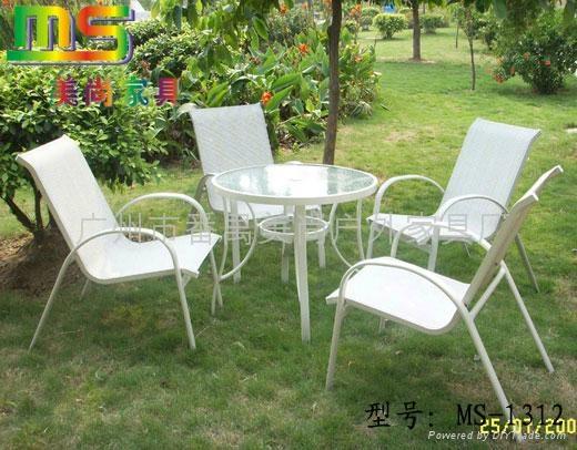 戶外傢具-特絲林網布桌椅 5