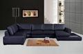 leather corner sofa f049