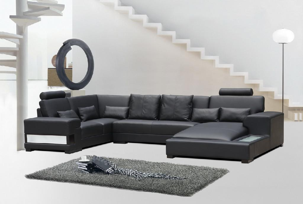 leather corner sofa JX148 1 ...