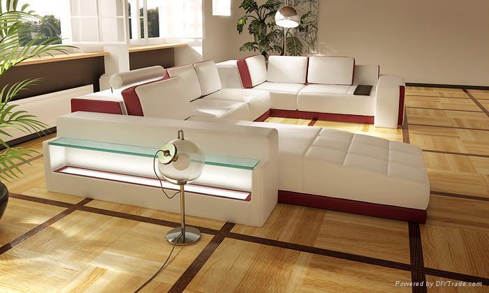 leather corner sofa JX139 1