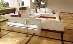 leather corner sofa JX139
