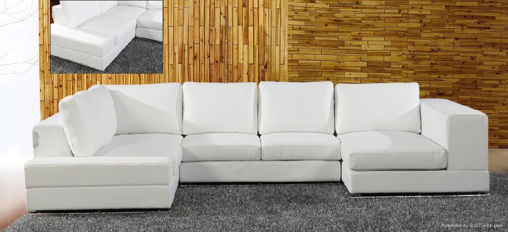 leather corner sofa  f027 1