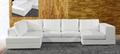 leather corner sofa  f027