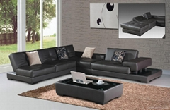 Leather Corner Sofa  f038