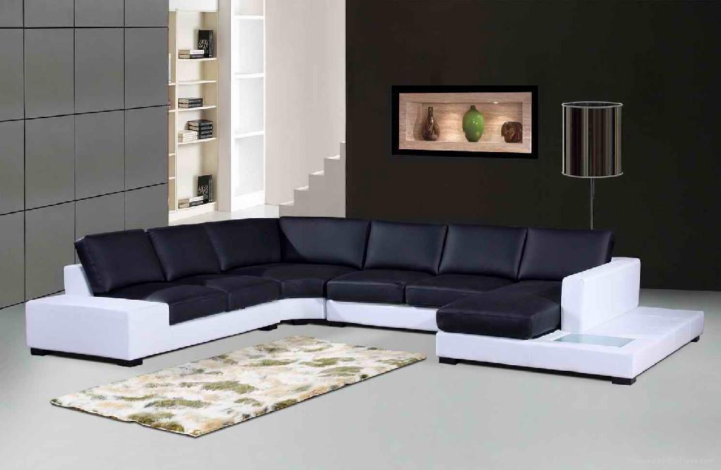 leather corner sofa f049 2
