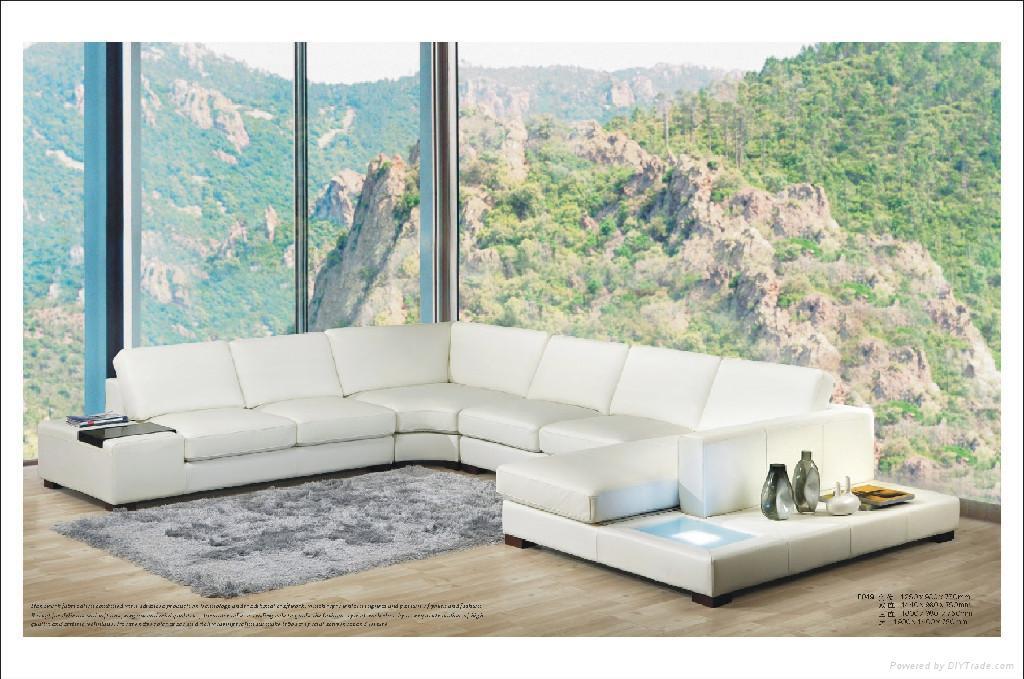 leather corner sofa f049 3