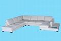leather corner sofa f049 4