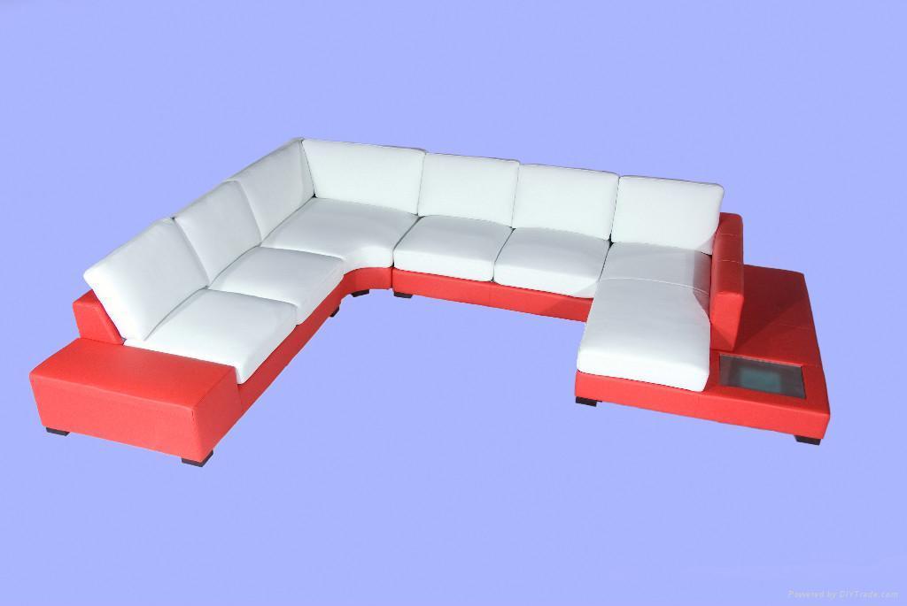 leather corner sofa f049 5