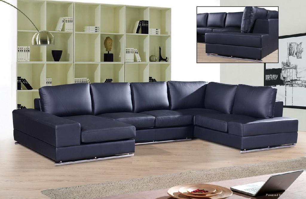 leather corner sofa  f027 2