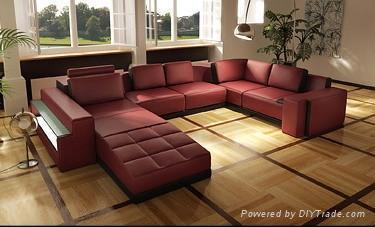 leather corner sofa JX139 2