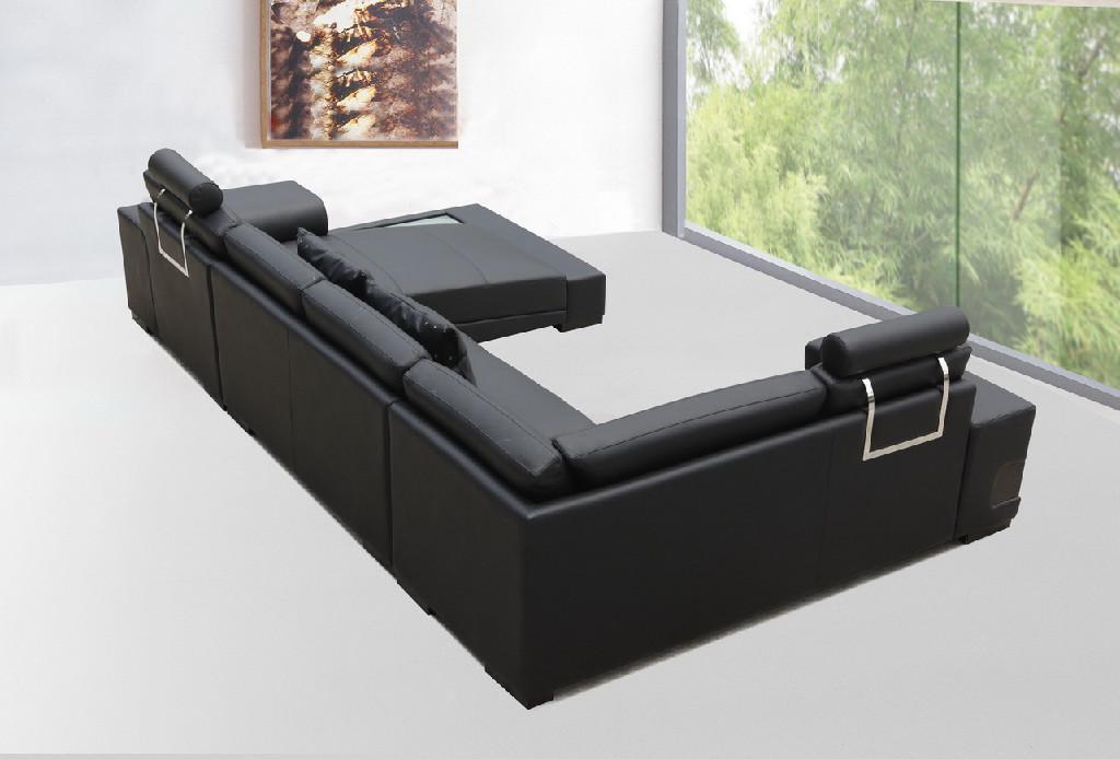 leather corner sofa JX148 2