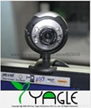 Free Shipping, 8.0 Mega USB 6 LED Webcam PC Camera + Mic , Retail