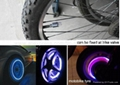 Free Shipping, Fancy Lamp for Car/Bike Tyre Wheel LED Valve Cap Stem Flash Light