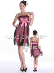 Prom Dress with Satin Bow