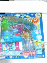 4 single water bubble lights clear mini gun   03888A