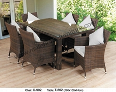 Rattan Dining Chair-(C-902 chair,T-802 table)
