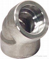 stainless steel socket/threaded elbow