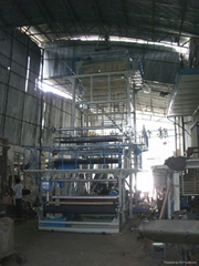 Double-layers PE film blowing machine