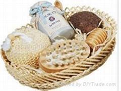 bath product ,bath gift set ,natural loofah bath ,sisal bath accessories