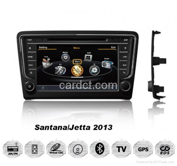 大衆桑塔纳车用多媒体导航带DVD收音蓝牙3G/WIFI触摸屏 1