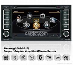 大衆途銳車用多媒體導航帶DVD收音藍牙3G/WIFI觸摸屏